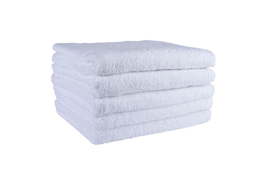 White Bath Towels 590 GSM Ringspun- Set of 20