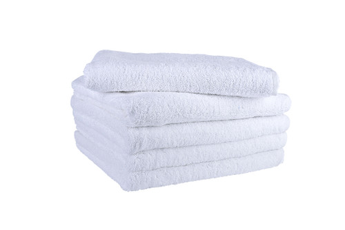 White Bath Towels 650 GSM Combed- Set of 15
