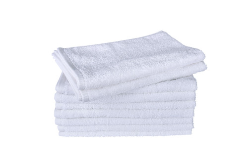 White Hand Towels 590 GSM Ringspun- Set of 50