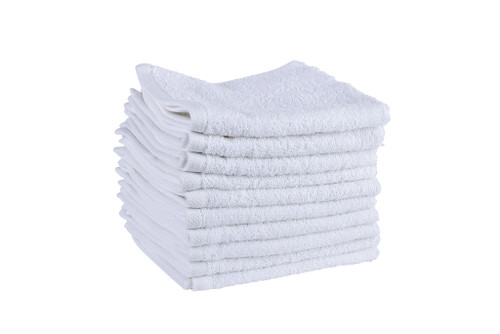White Face Cloths  500 GSM Ringspun- Set of 50