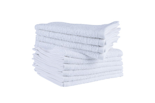 White Face Cloths 470 GSM Combed- Set of 200