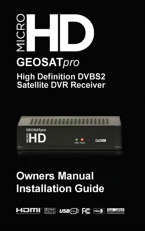 MicroHD GEOSATpro Install Guide