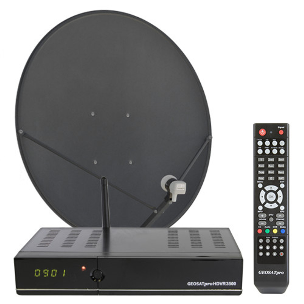 FTA MOTORIZED 90cm FREE TO AIR KU BAND SATELLITE SYSTEM WITH DVR and IPTV
