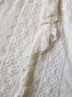 Cream Lace Sleeveless Dress details