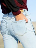 The Freya Embroidered Distressed Skinnies