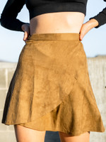 The Adeline Suede Wrap Around Skirt