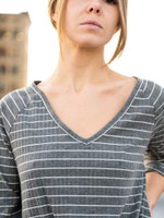 The Ava Striped Knot Top