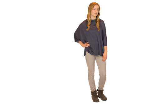 Light Grey Wash Skinny Jeans (paired with our Cowl Drape Top)