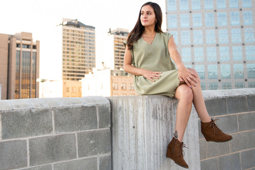The Abigail V Neck Shirt Dress