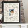 Signature frame personalized for wedding or anniversary