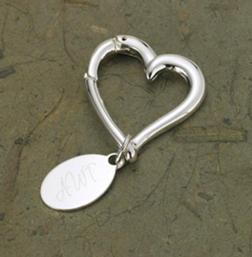 Personalized heart keychain