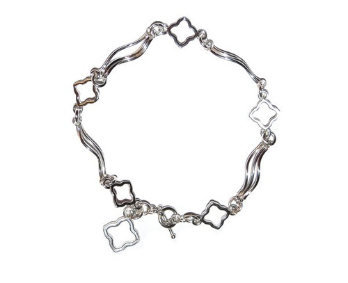 Anniversary Flower bracelet in sterling silver
