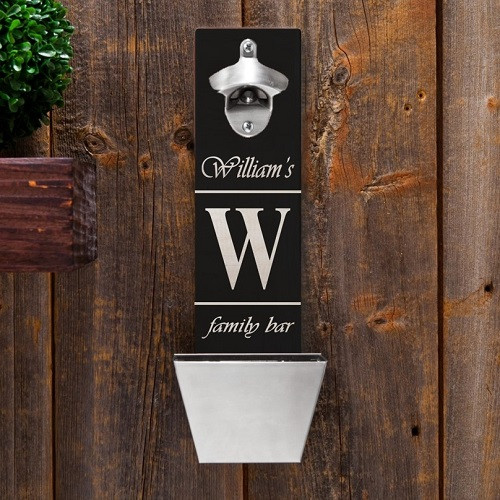 Personalized family bar bottle opener