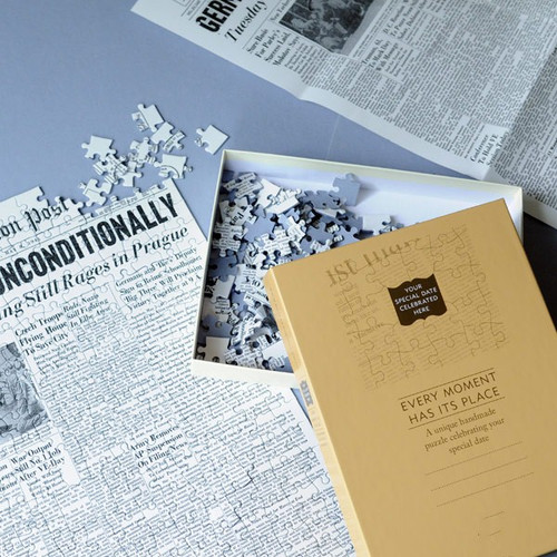 Your wedding date Washington Post front page jigsaw puzzle