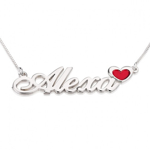 Personalized Anniversary necklace with her name