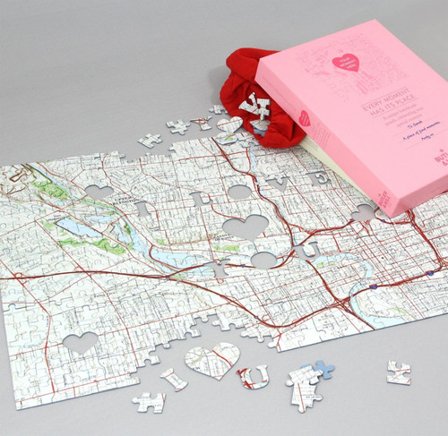 Personalized where we first met jigsaw puzzle with gift box