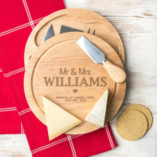 Couple's Personalized Wooden Cheeseboard