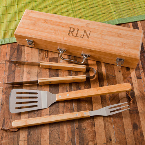 Personalized Wooden BBQ Set