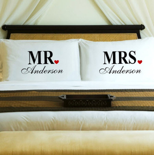 personalized mr and mrs pillow cases