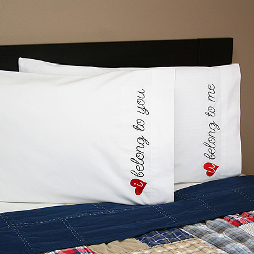 Embroidered We belong to each other pillowcases