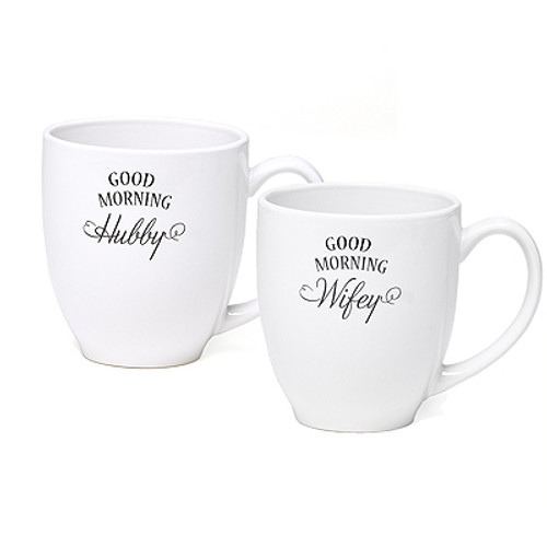 Hubby and Wifey Good Morning Coffee Mugs