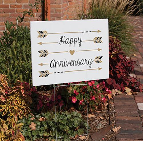 Happy Anniversary yard sign