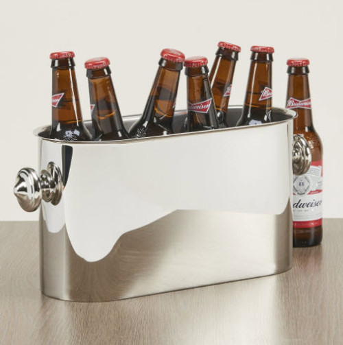 Engraved stainless steel cooler - perfect for an ice cold beer