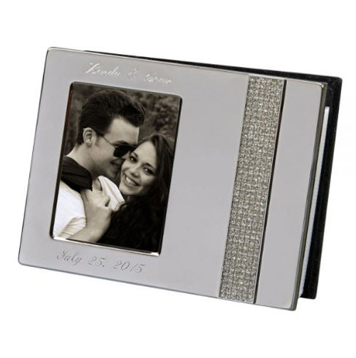 Crystal 7 silver engraved photo album