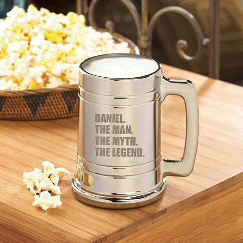 Personalized Legend Anniversary Beer Mug