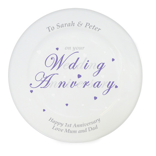 Personalized Anniversary Plate