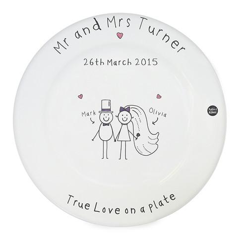 Fun personalized Anniversary plate