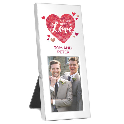Personalized Anniversary Photo Frame Favor for Mr and Mr