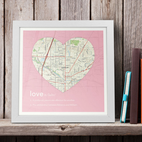 Personalized Couple's Framed Love Definition