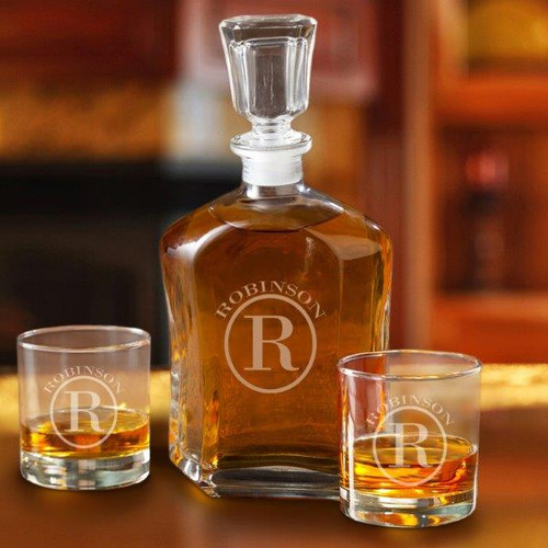 Personalized Decanter Set for your Anniversary Gift for him