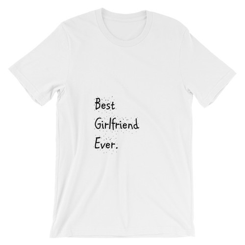 Best Girlfriend T-Shirt in White