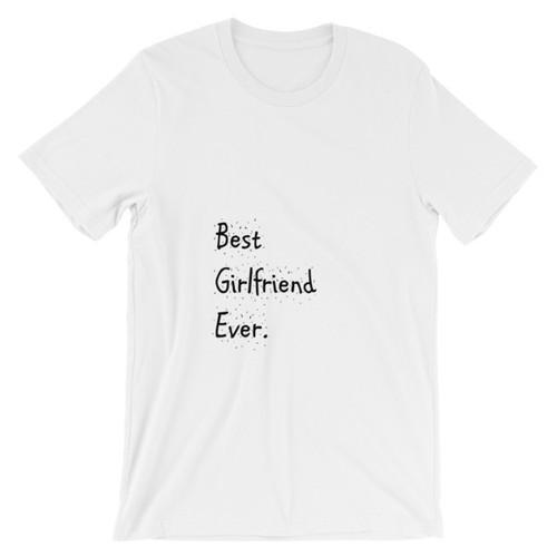 Best Girlfriend T-Shirt in White