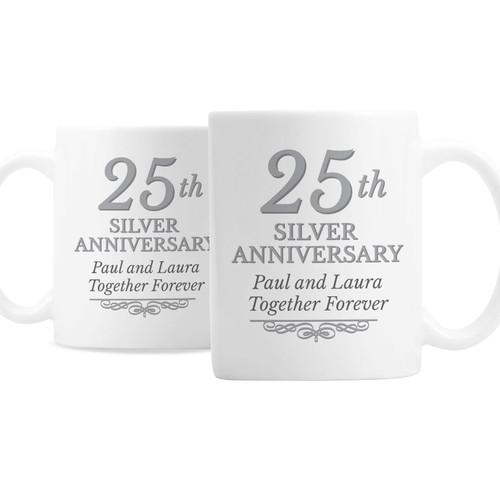 Personalized 25th Anniversary Mugs