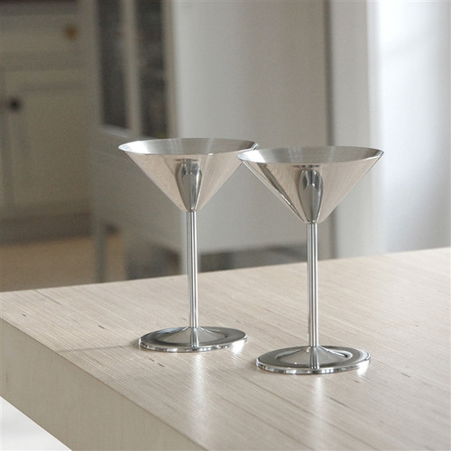 Stainless Steel Cocktail Glasses