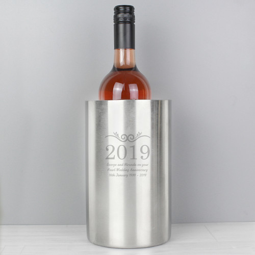 Personalized Anniversary Year Wine Cooler