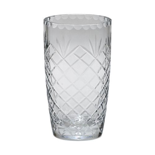 traditional anniversary cut crystal vase engraved with your names and date