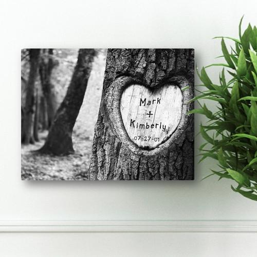 Anniversary date tree canvas