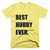 Best Hubby Ever T-Shirt in Lemon