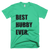 Best Hubby Ever T-Shirt in Mint Green