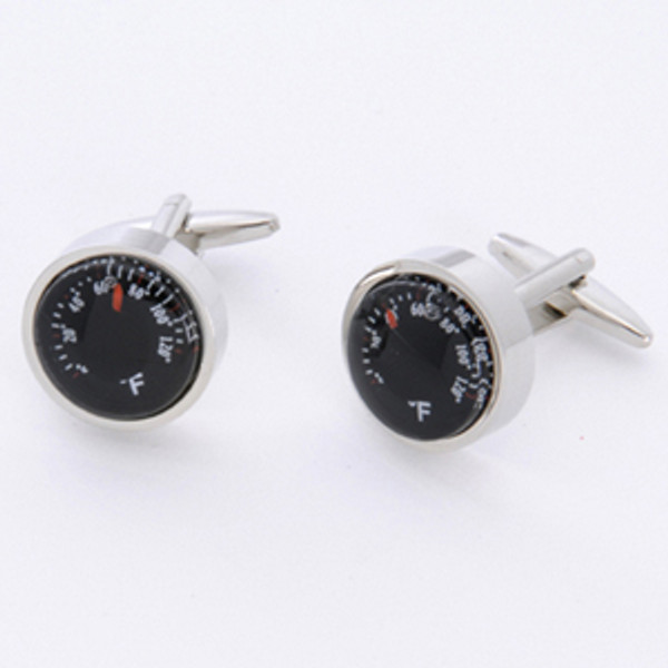 Thermometer cufflinks - perfect to show your husband what hot stuff he is...