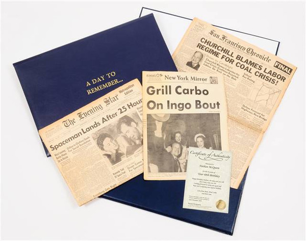 Anniversary newspaper presentation pack