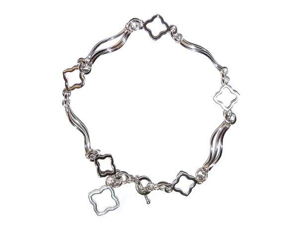 Anniversary Flower bracelet in sterling silver