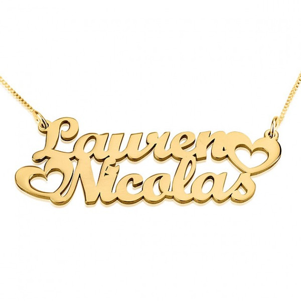 Two Names Personalized Gold Pendant