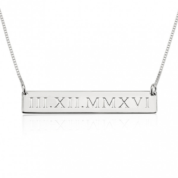 Personalized Anniversary Date Necklace