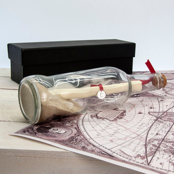 Anniversary message in a bottle
