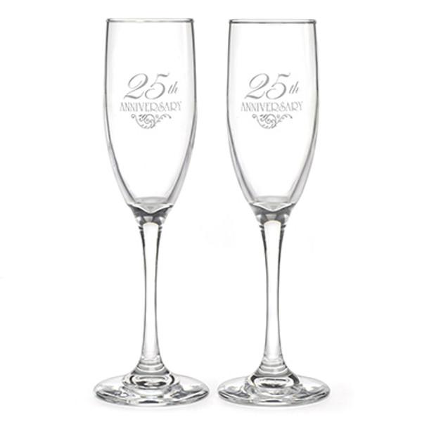 25th Anniversary Toasting Flutes